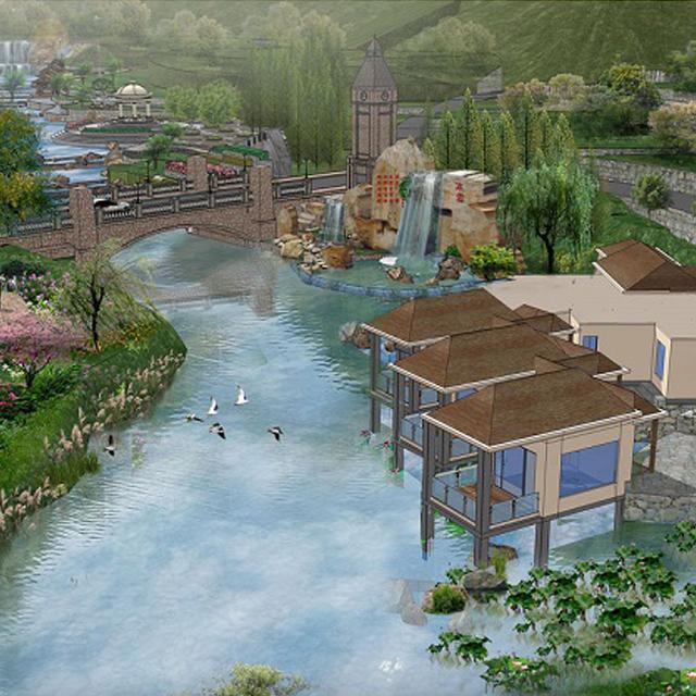 小区景观林-林谷花溪