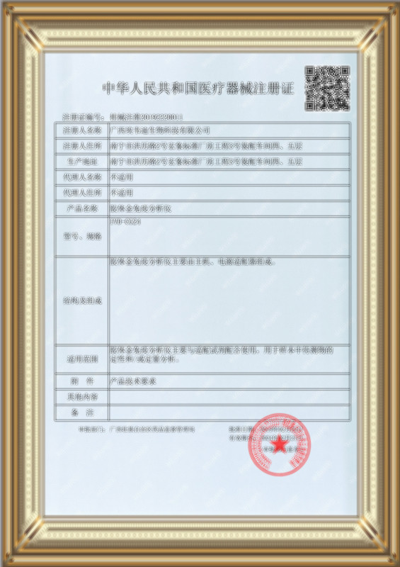 產品注冊證書IVD-CG24