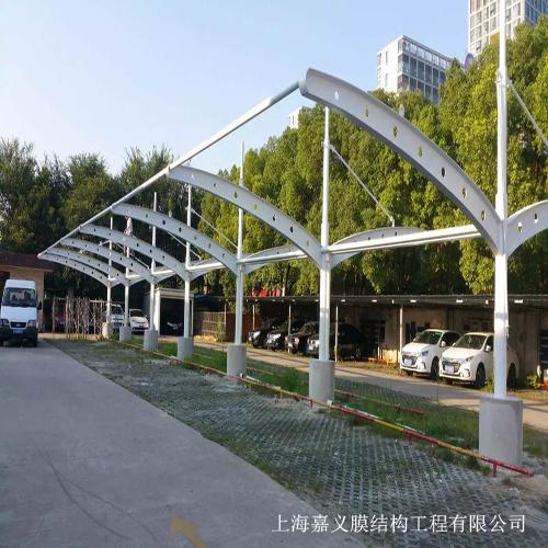 膜结构汽车棚案例展示