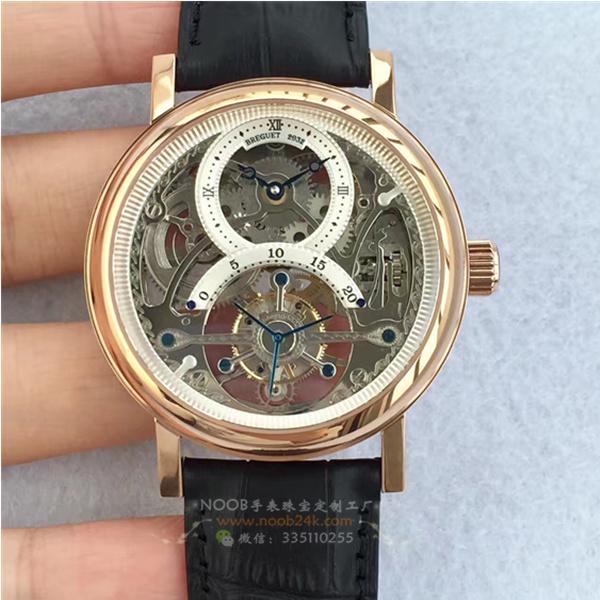 宝玑经典复杂系列3355PT/00/986镂空陀飞轮玫瑰金腕表
