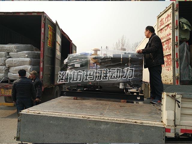 50KW机组物流发往淄博