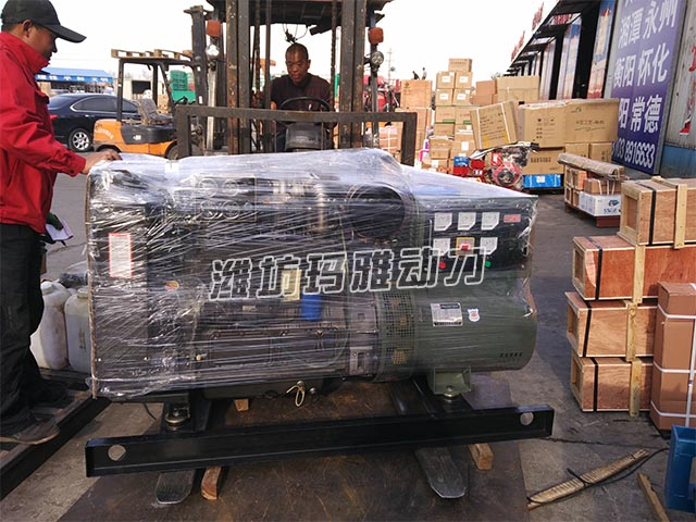 广东清远客户推销50KW柴油发机电组投递物流