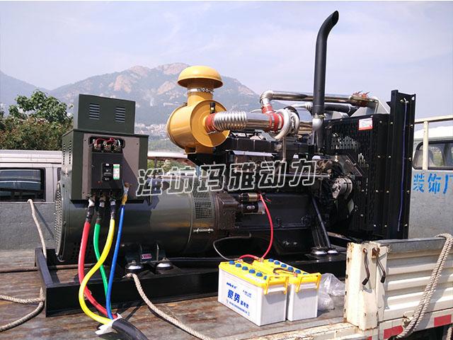 200KW柴油发机电组带负载验收