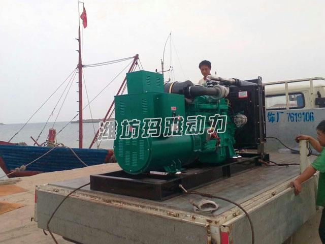 150KW船用机组到港