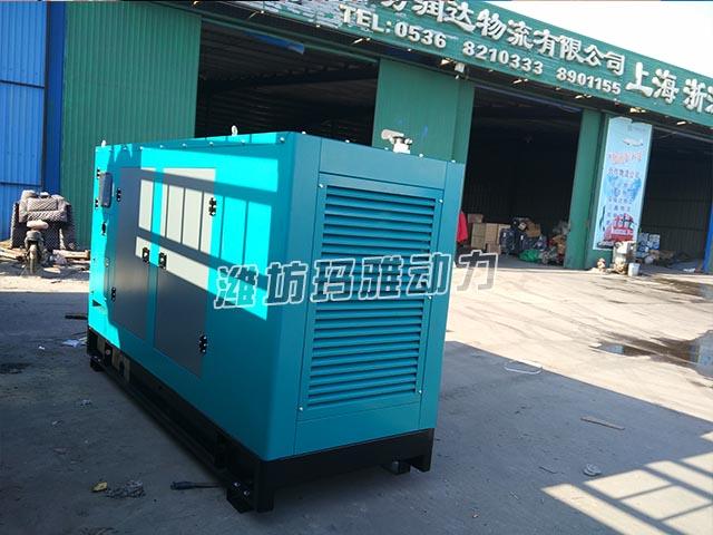 上海客户推销50KW静音机组