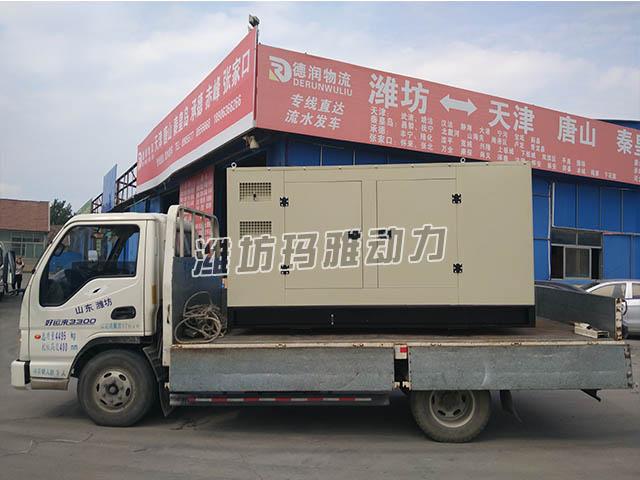 天津客户推销75KW静音机组