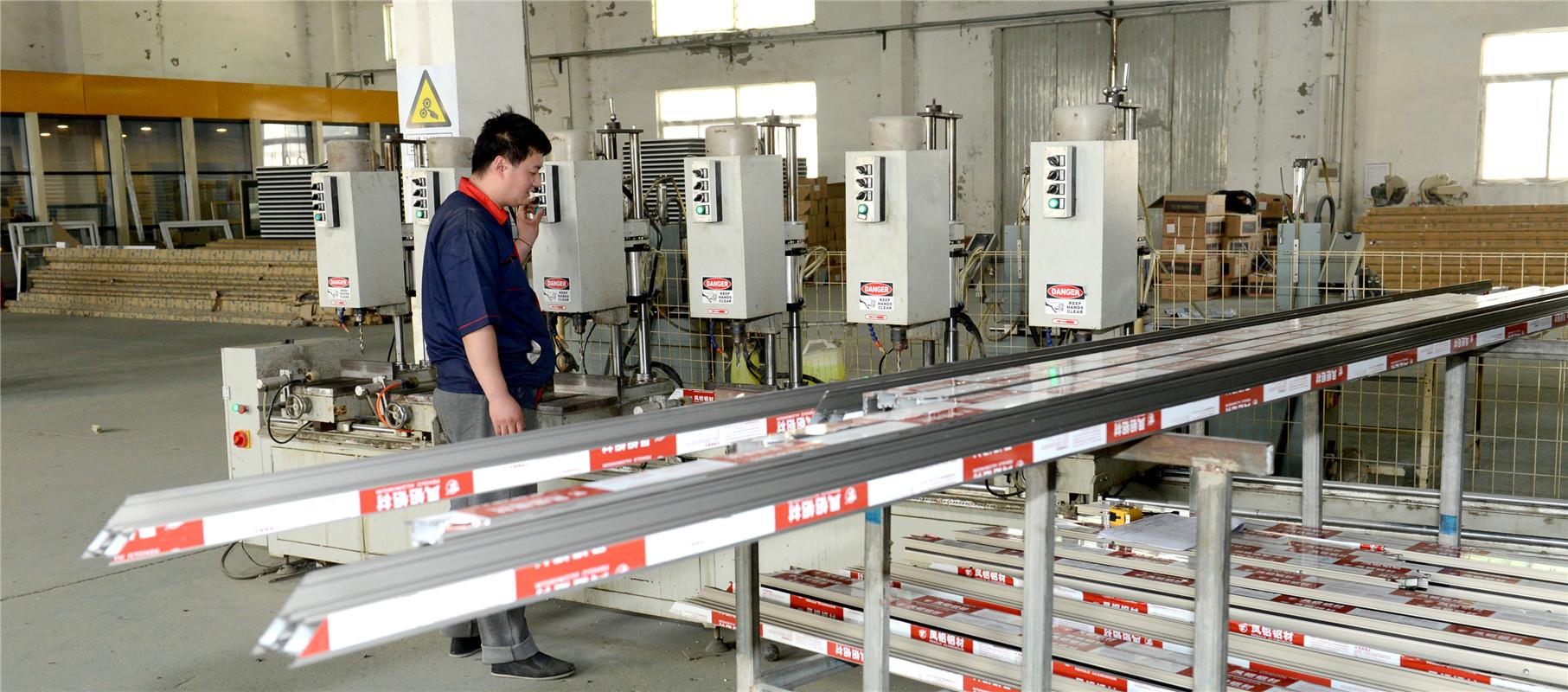 断桥铝型材组钻系统2