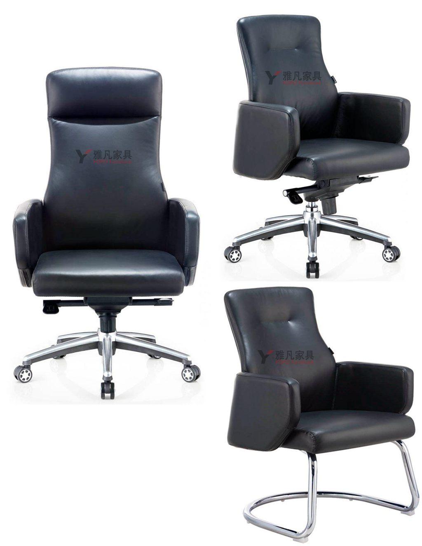 大班椅|老板椅|经理椅|皮座椅|弓形椅|皮面办公座椅系列YF-338