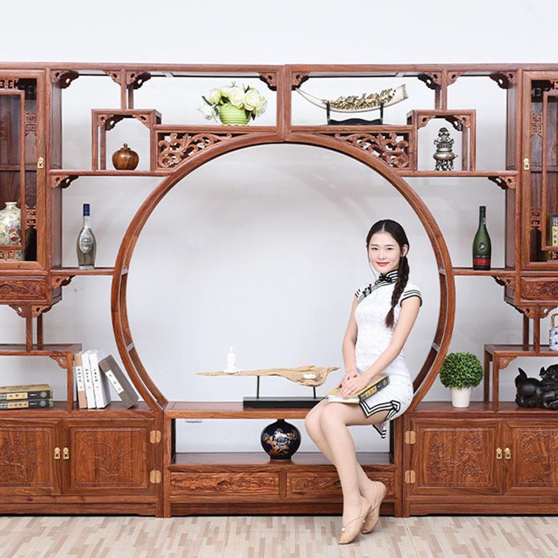 中式客厅花梨木多宝阁
