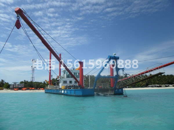 马尔代夫500方绞吸式抽沙船