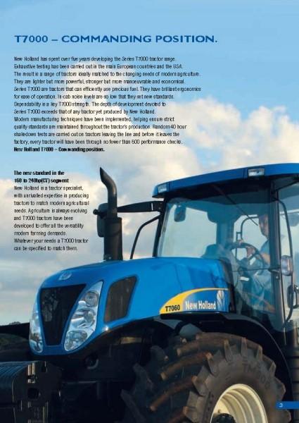 纽荷兰T7000系列拖拉机彩页